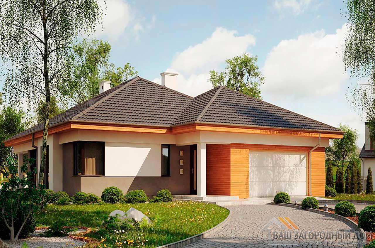 Проект просторного одноэтажного дома площадью 189 м2, К-118914