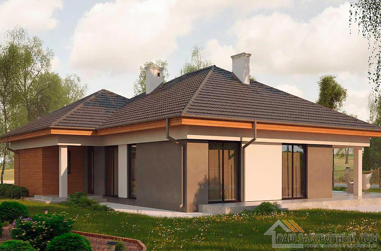 Проект просторного одноэтажного дома площадью189 м2, К-118914 вид 3