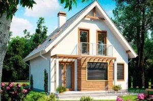 Проект компактного дома с мансардным этажом общей площадью 127 м2, К-112795