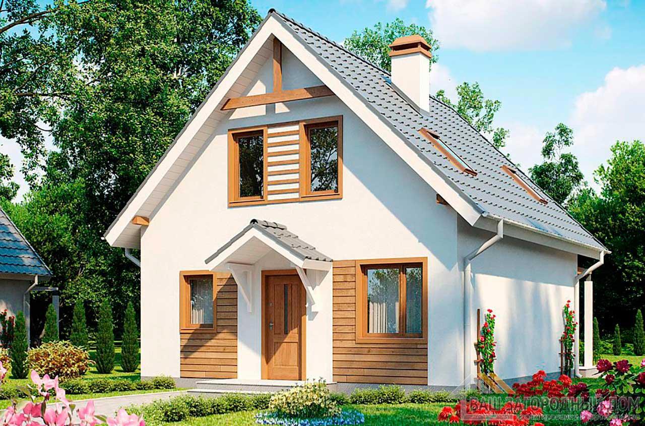 Проект компактного дома с мансардным этажом общей площадью 127 м2, К-112795 вид 2