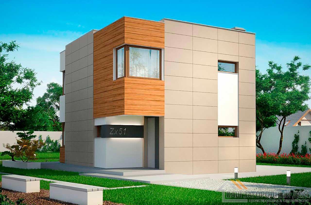 Проект двухэтажного дома площадью 102м2, К-210276