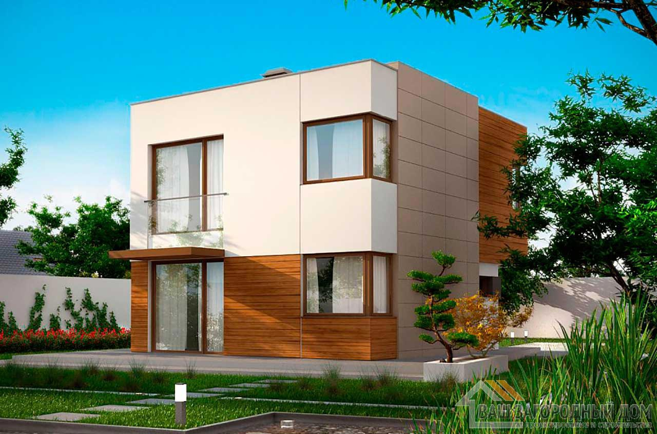 Проект двухэтажного дома площадью 102м2, К-210276 вид 2