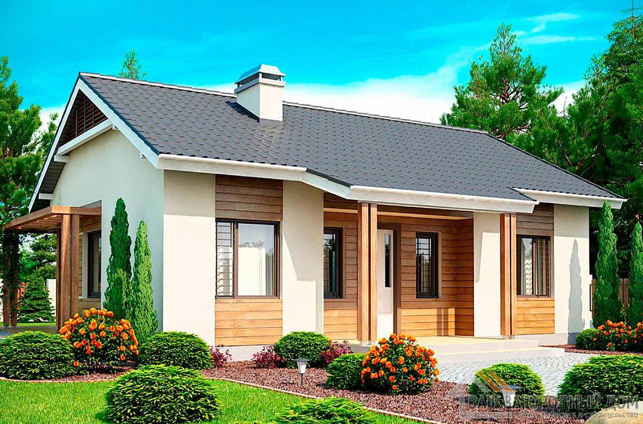 Проект одноэтажного дома площадью 80м2, К-180600