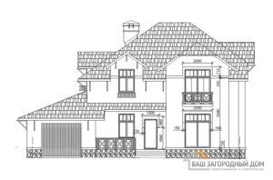 Проект дома в два этажа с шатровым покрытием, площадью 256 м2, К-0030