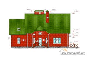 Яркий проект дома в один этаж с мансардой, общей площадью 259 м2, К-0006