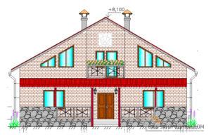 Красочный проект одноэтажного дома с мансардой, общей площадью 216 м2,К-0039