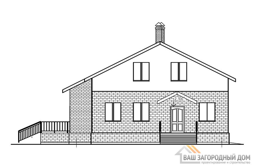 Готовый  проект дома с мансардным этажом, площадь 148 м2, К-0069