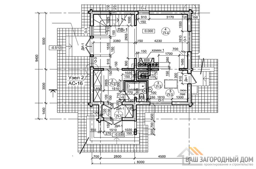 К-0016, план 1