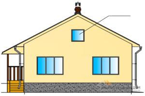 Проект компактного дома в один этаж, общей площадью 84 м2, К-0034