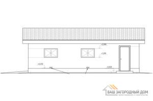 Проект гаража на 2 машины, общей площадью 59 м2, К-0261