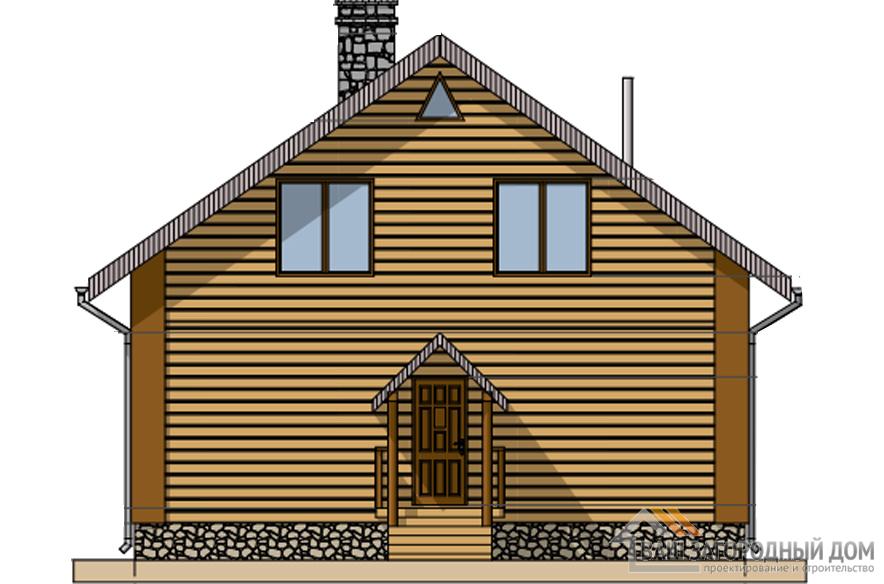 Проект дома в 2 этажа с мансардой, общей площадью 220 м2, Д-0274