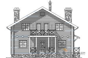 Проект дома в 2 этажа с террасой, общей площадью 185 м2, Д-0278