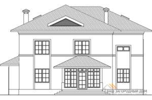 Проект дома в 2 этажа с мансардой, общей площадью 360 м2, К-0279