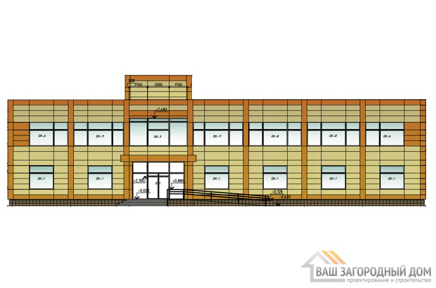 Проект детского центра в 2 этажа, общей площадью 1166 м2, КР-0281