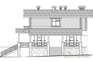 Проект дома в 2 этажа с террасой, общей площадью 261 м2, КР-0285