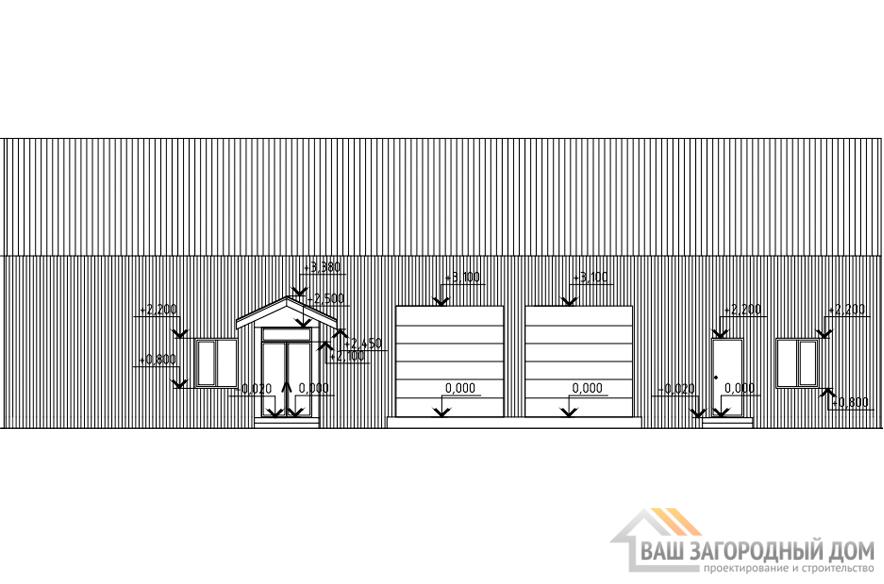 Проект офисно-складского помещения, общей площадью 281 м2, КР-0288