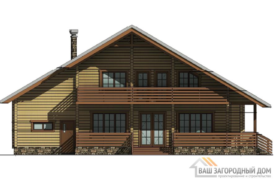 Проект дома в 2 этажа с мансардой, общей площадью 307 м2, Д-0290