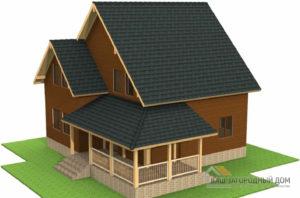 Проект дома в 2 этажа с террасой, общей площадью 150 м2, Д-0291