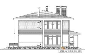 Проект дома в 2 этажа с террасой, общей площадью 218 м2, К-0301