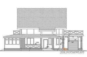 Проект дома в 2 этажа с гаражом, общей площадью 189 м2, К-0302