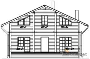 Проект гостевого дома в 2 этажа с террасой, общей площадью 92 м2, Д-0304