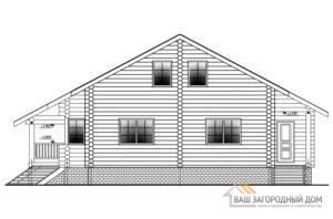 Проект дома в 2 этажа с террасой, общей площадью 173 м2, Д-0305