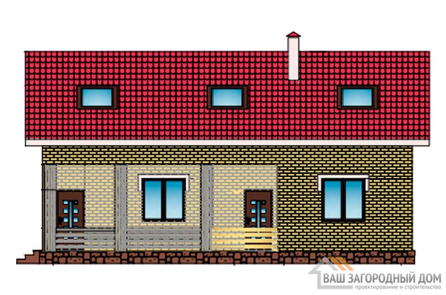 Проект дома в 2 этажа с террасой, общей площадью 175 м2, К-0306