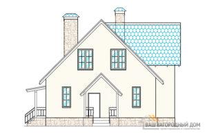 Проект 2-х этажного дома, общая площадь 223м2, К-0046