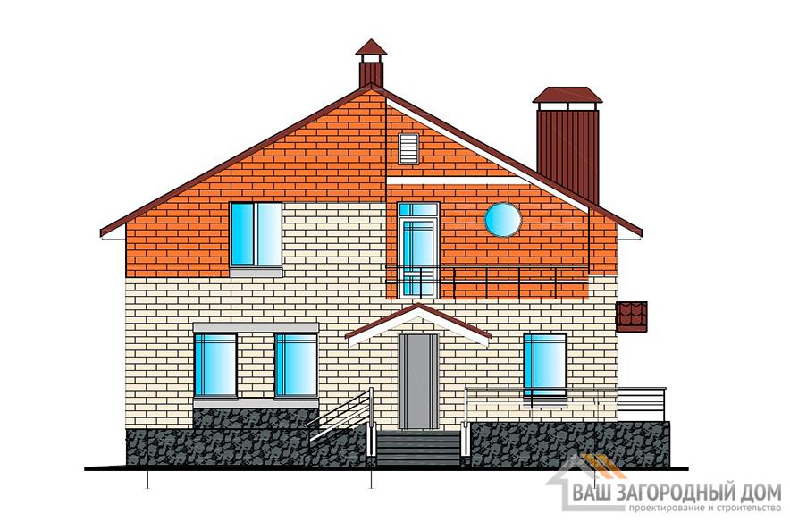 Готовый проект 2-х этажного дома, мансардного типа, общей площадью 224 м2, К-0070