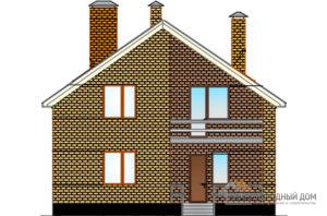 Проект дома в 2 этажа с террасой, общей площадью 194 м2, К-0312