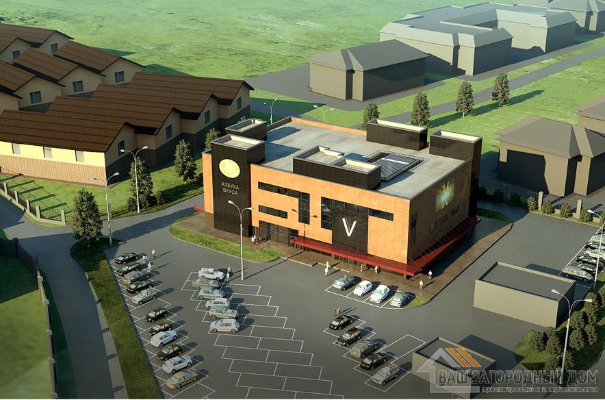 Проект торгового центра в 3 этажа, общей площадью 5198 м2, К-0332