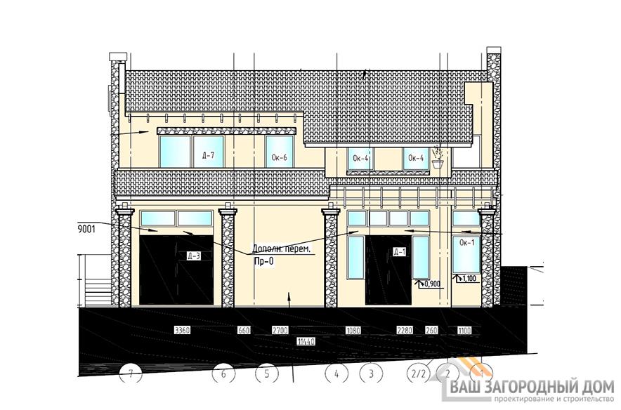 Готовый проект дома в 2 этажа, общей площадью 200 м2, К-0065