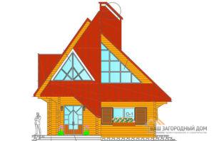 Проект деревянного дачного дома, общей площадью 122 м2, К-0016