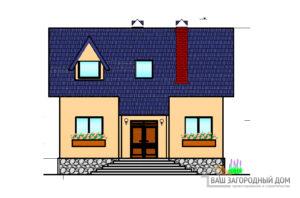 Проект одноэтажного дома с мансардой, общей площадью 105 м2, К-0021