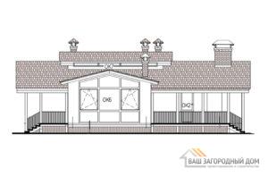 Проект одноэтажного дома с сауной, площадью 117 м2, К-0033