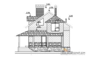 Готовый проект 2-х этажного дома, общей площадью 147 м2, К-0035