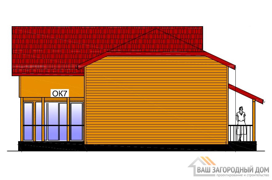 Готовый проект дома в 2 этажа, площадь 217 м2, К-0041