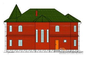 Готовы проект дома замкового типа в 2 этажа, общей площадью 140 м2, К-0044