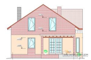 Готовый проект 1 этажного дома с мансардой, общая площадь 186 м2, К-0053