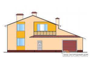 Проект 2-х этажного дома с гаражом, площадью 182,7 м2, К-0100