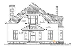 Проект дома в один этаж с мансардой, с многоскатной крышей, общей площадью 221 м2, К-0088