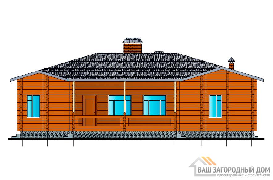 Проект одноэтажного дома, площадью 142 м2, К-0078