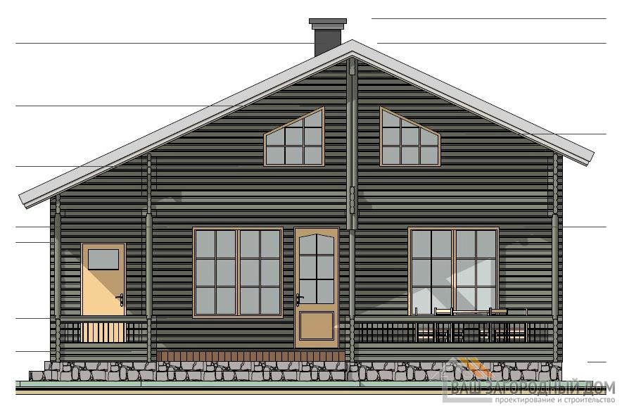 Проект дома в один этаж с мансардной, площадью 127,7 м2, К-0098
