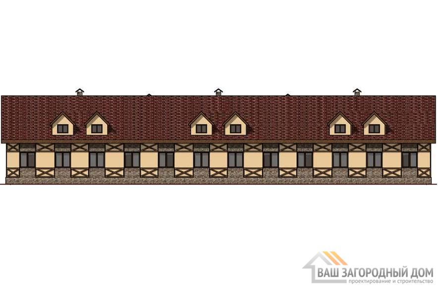 Проект 6-ти квартирного дома, общей площадью 378 м2, К-0333