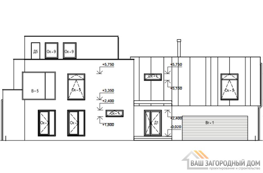 Проект дома в 2 этажа с гаражом, общей площадью 530 м2, К-0337