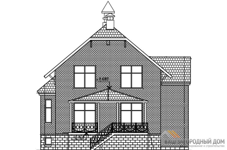 Проект дома в 2 этажа с террасой, общей площадью 241 м2, К-0339