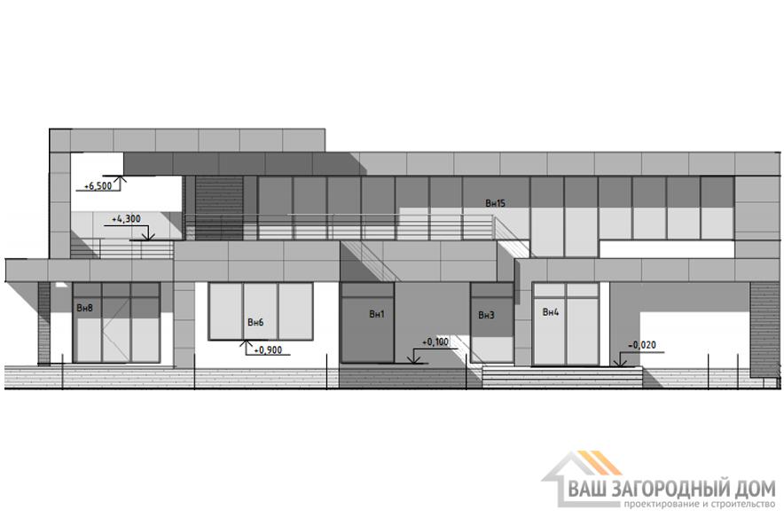 Проект дома в 2 этажа с террасой, общей площадью 619 м2, К-0343