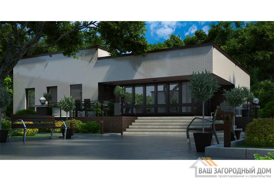 Проект жилого дома с баней, общей площадью 110 м2, К-0352