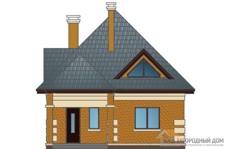 Проект дома в 2 этажа с террасой, общей площадью 131 м2, К-0360