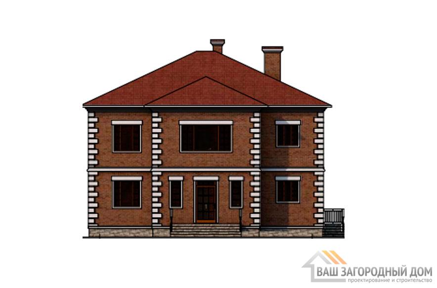 Проект дома в 2 этажа с террасой, общей площадью 287 м2, К-0377